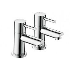 Bristan Blitz Bath Pillar Taps - Chrome Plated