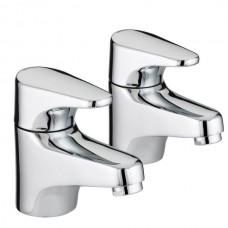 Bristan Jute Bath Taps - Chrome Finish