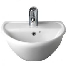 Twyford Sola Optimise 1 Tap Hole Semi-Recessed Basin 450mm - White