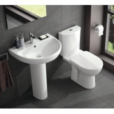 Twyford E100 series 1 Tap Hole Round Washbasin 500 x 410mm - White